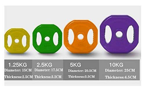 1 Par De Discos De Pesas De Goma, 30 Mm De Diámetro, Placas Pesas Olímpicas Placa Color Caucho Sólido Para Gimnasia Ejercicios Equipo,1.25KG*2