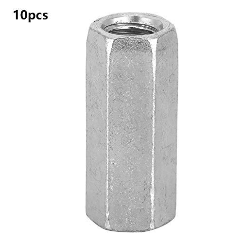 10pcs Tuerca de varilla larga Tuercas de acoplamiento hexagonales Tuerca de manga hexagonal Separador M8 Sujetadores roscados(M8*30)