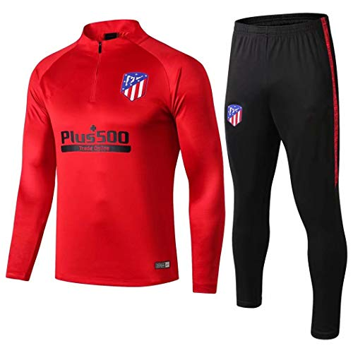 18-19 Atlético de Madrid Manga Larga, Traje de Entrenamiento, Traje de fútbol Informal, Traje, Ropa Deportiva Casual para Hombres @ Photo Color_L