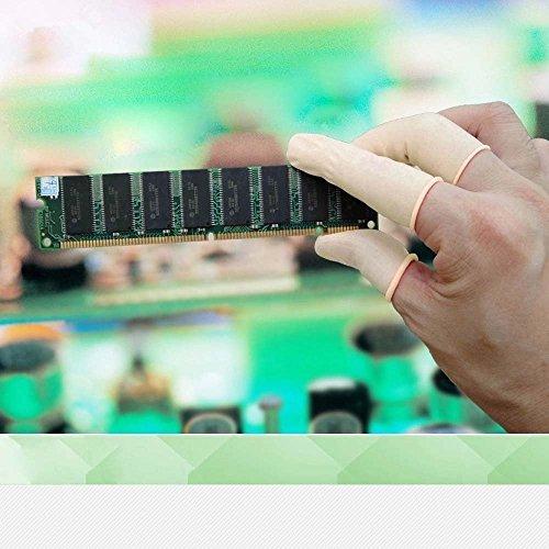 200pcs Cubiertas De Látex,Dedales de látex protegen de la estática,Protegetor Dedo látex,Manga Dedo desechable,para Aplicación Tópica, Arte del Clavo, Reparación Electrónica