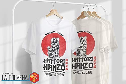 2242-Camiseta Premium, Hattori Hanzo (Melonseta) Blanco M