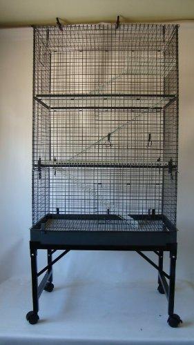 3 baldas hurón/Rat/Chinchilla jaula con soporte Doghealth