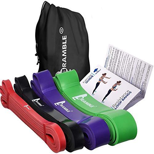 4 Pack Premium Bandas de Resistencia para Dominadas - Cinta Gomas Resistencia Fitness, Banda de Ejercicio Fuerte para Crossfit, Pull ups, Musculacion, Entrenamiento, Levantamiento de Pesas.