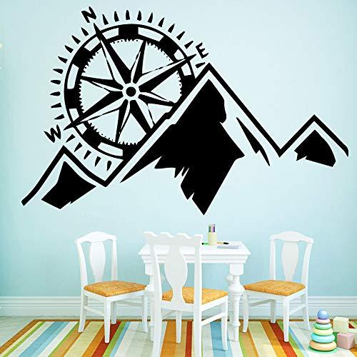 58 * 90cm venta caliente brujula navegacion Casa Decor wall sticker wallpaper para niños habitaciones DIY accesorios de la decoracion del hogar