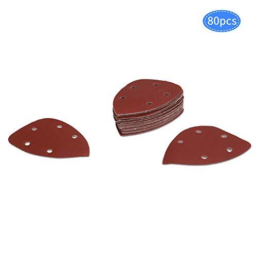 80 discos de lija lijadora de palma y ratón lijadora 40/80/120/240 granos papel de lija