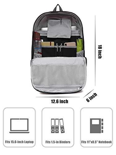 936Plus Mochila Universidad, para portatil 15.6 Pulgadas, 26 litros, Negro
