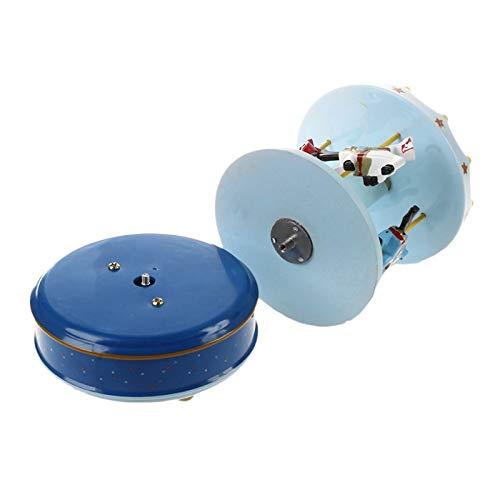 ABMBERTK Caja de música de carrusel de Madera, Caballo de carrusel Musical, Hermosa melodía, Azul Oscuro