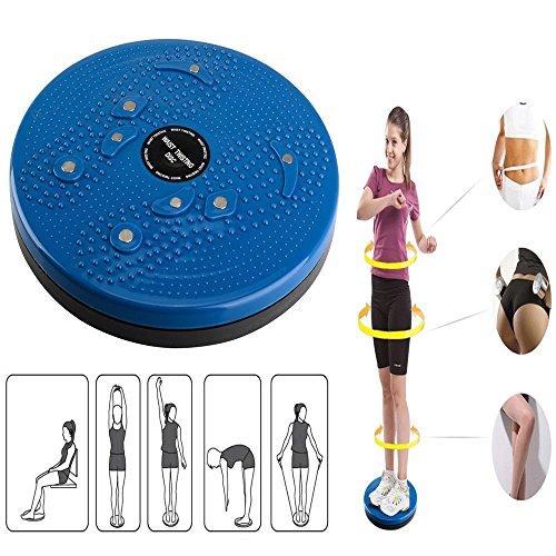 Acacia person Twist Cintura Torsión Disc Junta Ejercicio Aeróbico Fitness Reflexología Imanes Balance Equipo de Ejercicio Junta (Azul)