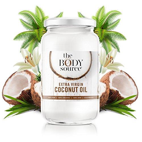 Aceite de Coco Virgen Extra de 1 Litro - Crudo y Prensado en Frío - 100% Orgánico y Puro - Con Certificación orgánica
