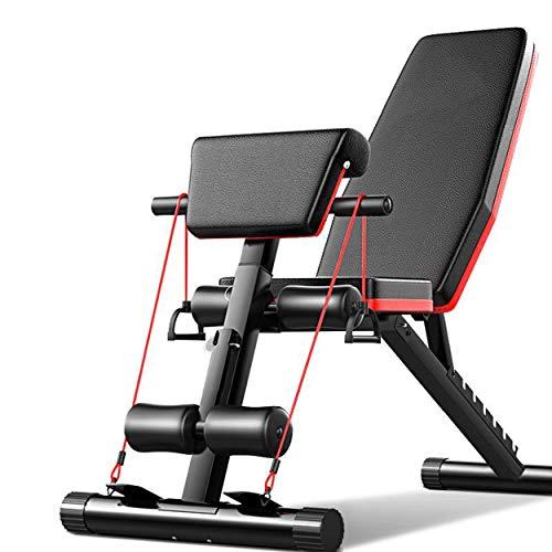 Acobonline Banco de Pesas Ajustable para Fitness,Banco de Musculación Multifunción para Entrenamiento de Cuerpo Entero, Respaldo abatible, diseño Compacto, Antideslizante. (Modelo B)
