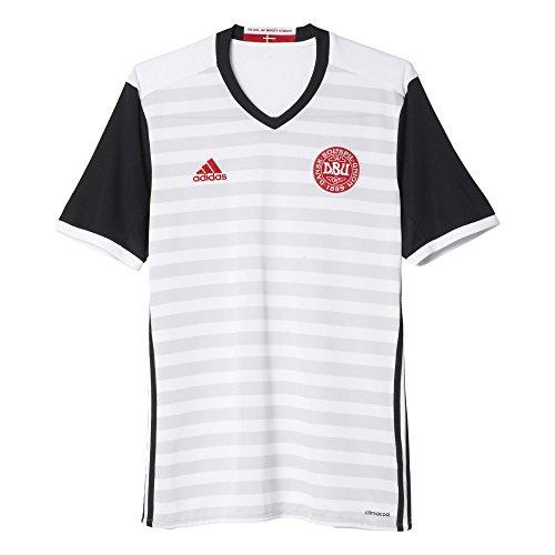 adidas 2ª Equipación Selección de Fútbol de Dinamarca - Camiseta Oficial, Talla L
