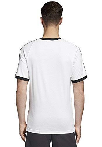 adidas 3-Stripes tee T-Shirt, Hombre, White, 2XL
