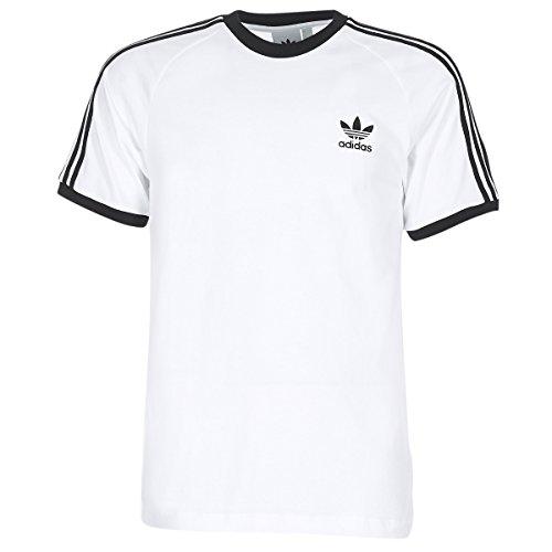 adidas 3-Stripes tee T-Shirt, Hombre, White, M