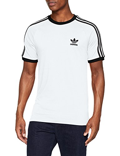 adidas 3-Stripes tee T-Shirt, Hombre, White, XL
