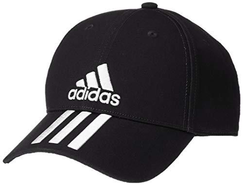 adidas 6p 3s Cap Cotto Gorra, Unisex Adulto, Black/White/White, OSFW