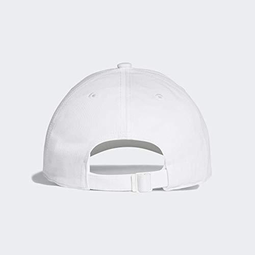 adidas 6P Cotton Gorra de Tenis, Hombre, Blanco (Blanco/Blanco/Negro), OSFW