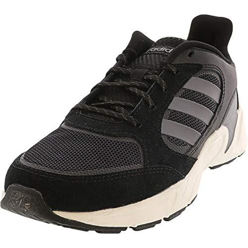 adidas 90s Valasion, Zapatillas Deportivas. para Mujer, Color Negro y Gris metálico, 38 EU