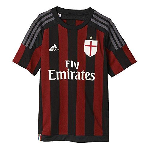 adidas AC Milan Home Camiseta, Hombre, Negro/Rojo/Blanco/Granito, 140