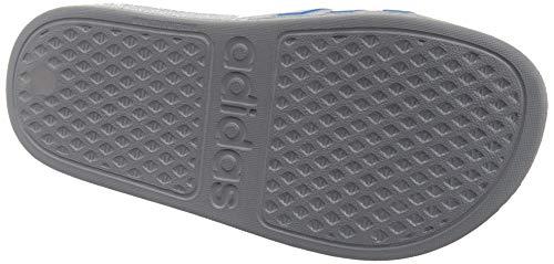 Adidas Adilette Aqua K, Chanclas Unisex niños, Gris (Grey Three F17/ True Blue), 37 EU