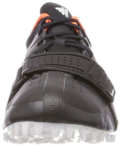 Adidas Adizero Accelerator, Zapatillas de Atletismo Unisex Adulto, Negro (Negbas/Ftwbla/Naranj 000), 44 2/3 EU