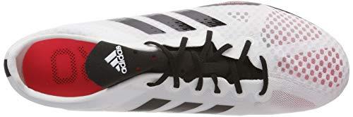 adidas Adizero Ambition 4 W, Zapatillas de Atletismo para Mujer, Blanco (FTWR White/Core Black/Shock Red FTWR White/Core Black/Shock Red), 37 1/3 EU