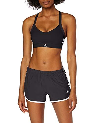 adidas All Me 3-Stripes Sujetador Deportivo, Mujer, Negro (Black), S