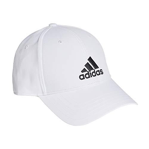 adidas Bballcap Lt Emb Gorra, Unisex Adulto, White/White/Black, OSFM