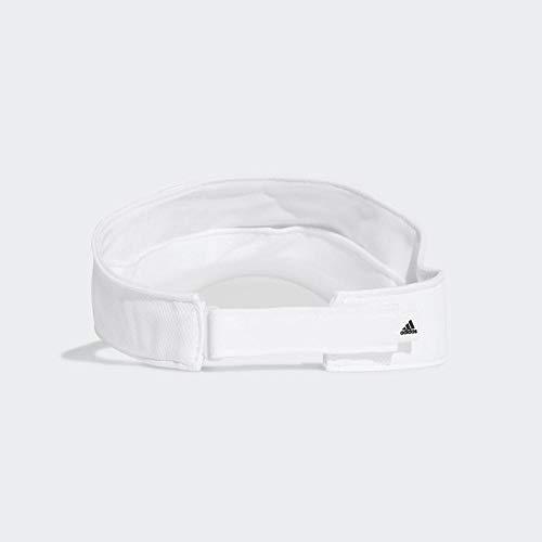 adidas Clmlt Visor Gorro, Mujer, Blanco/Blanco/Negro, Talla Única