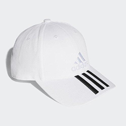 adidas color blanco Junior niños ajustable Iconic 3rayas bordado Gorra de béisbol se adapta Edad seis a doce años