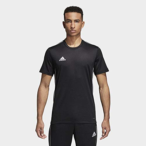 adidas Core 18 T Camiseta, Hombre, Negro (Bllack/White), L