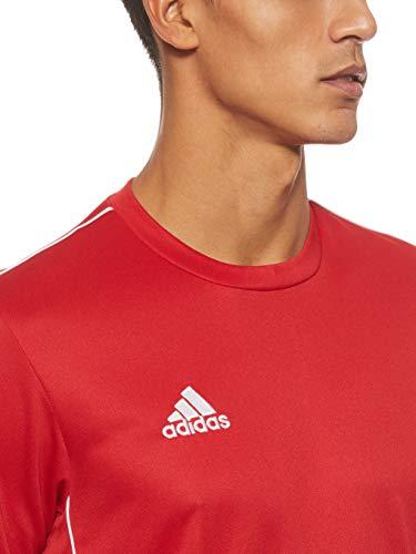 Adidas Core 18 Training Jsy, Camiseta Hombre Rojo (Power Red/White), L