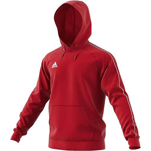 Adidas CORE18 Hoody Sudadera con Capucha, Hombre, Rojo (Rojo/Blanco), S