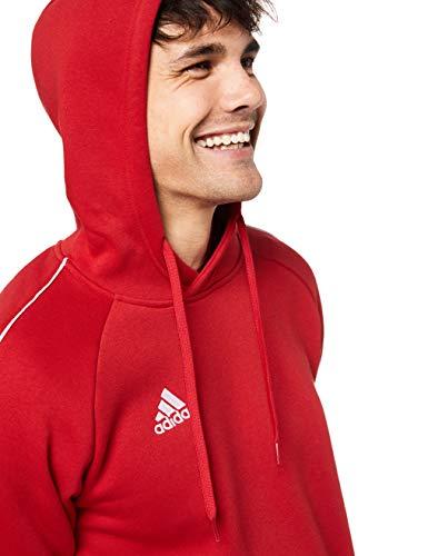 Adidas CORE18 Hoody Sudadera con Capucha, Hombre, Rojo (Rojo/Blanco), XL