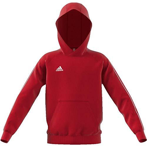 Adidas Core18 Hoody Sudadera con Capucha, Unisex Niños, Rojo (Power Red/White), 11-12 años (Size : 152)
