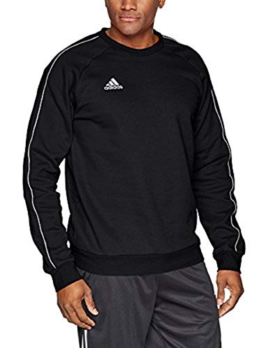 adidas Core18 Sweat Top Sweatshirts, Hombre, Black/White, L