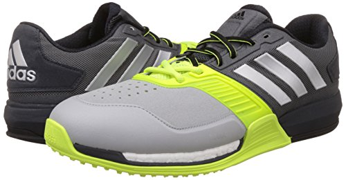 adidas Crazytrain Boost - Zapatillas de Cross Training para Hombre, Color Gris/Plata/Lima/Blanco, Talla 44 2/3