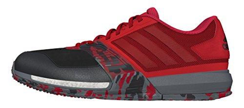 adidas Crazytrain Boost, Zapatillas de Deporte para Hombre, Rojo (Rojray/Rojpot/Negbas), 40 EU