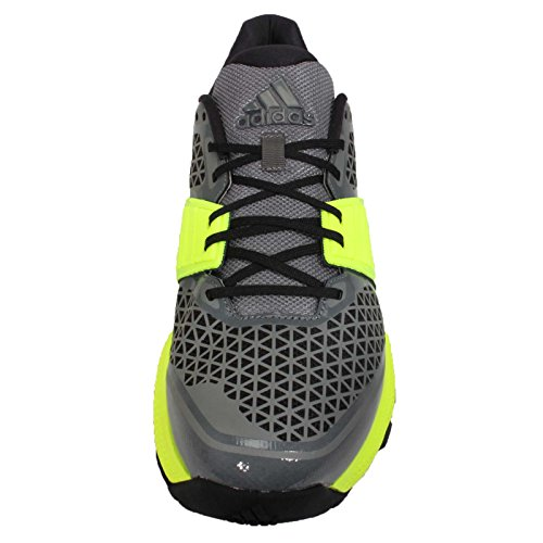 adidas Crazytrain Bounce - Zapatillas de Cross Training para Hombre, Color Gris/Negro/Lima, Talla 45 1/3