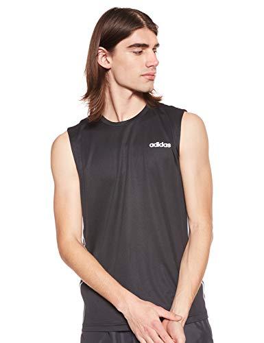 adidas D2M SL 3S Camiseta sin Mangas, Hombre, Black, 3XL