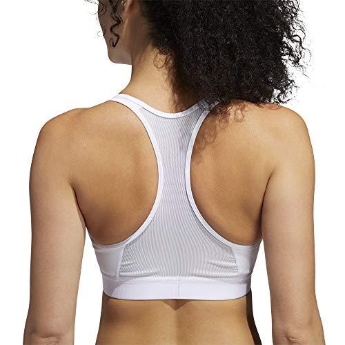 adidas DRST Ask Bra Sujetador de Deporte, Mujer, White, S