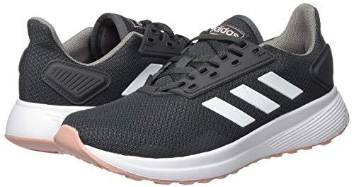 adidas Duramo 9, Zapatillas para Correr para Mujer, Grey Six/FTWR White/Pink Spirit, 36 2/3 EU