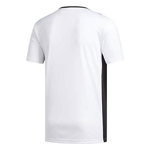 adidas Entrada 18 JSY T-Shirt, Hombre, White/Black, S
