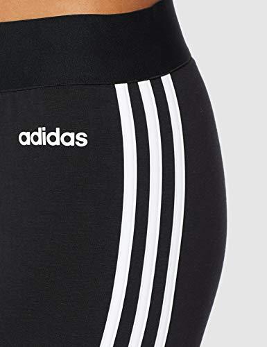 adidas Essentials 3 Bandas Tight Mallas, Mujer, Negro (Black/White), M