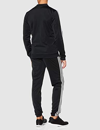adidas Essentials 3-Stripes Track Suit Chándal, Hombre, Negro (Black/Black/White), M