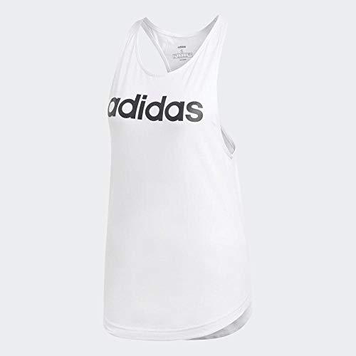 adidas Essentials Linear Tk Camiseta de Tirantes, Mujer, Blanco (White/Black), L