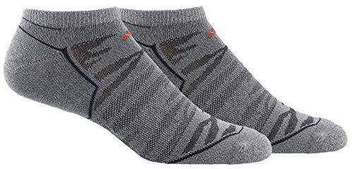 adidas Hombre Superlite Velocidad Malla no Show Calcetines (2Unidades), Hombre, Vista Grey/Energy Red/Dark Grey