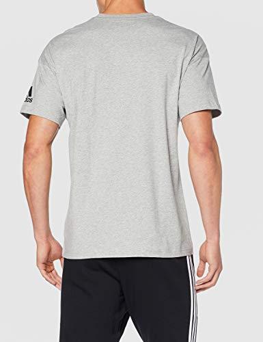 adidas Mh Plain tee Camiseta de Manga Corta, Hombre, Medium Grey Heather, M