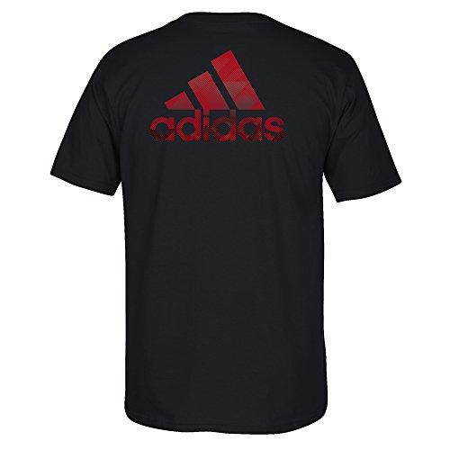 adidas NCAA para Hombre Stealth Lema para Camiseta de Manga Corta, Hombre, Negro