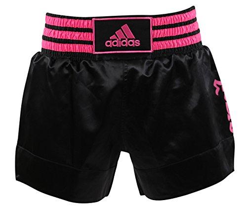 Adidas Pantalones cortos de boxeo tailandés - blanco y negro Large