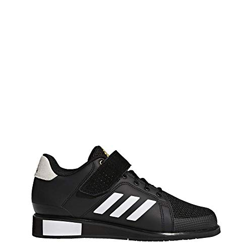 Adidas Power 3, Zapatillas de Deporte para Hombre, Negro (Core Black/Footwear White/Matte Gold 0), 47 1/3 EU
